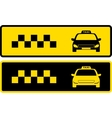 black and yellow taxi icons vector image vector image