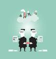 Business corruption concept vector image