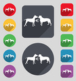 Betting on dog fighting icon sign A set of 12 vector image