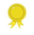 Award yellow Ribbon vector image