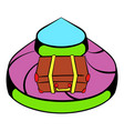 baggage on conveyor belt at the airport icon vector image