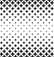 Black and white greek cross pattern vector image