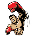 boxing man punch vector image