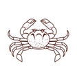 crab sea animal vector image