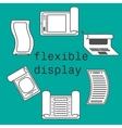 Flexible display smartphone icons flat style vector image