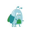 funny cute cartoon funny midge colorful character vector image