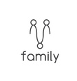 happy family design template vector image