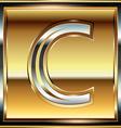 Ingot Font Letter C vector image