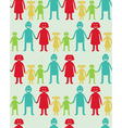 seamless pattern with kids and parents vector image
