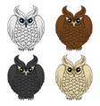 set of color images with owls vector image