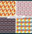 set of four seamless geometrical patterns 13 vector image