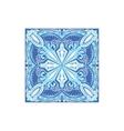 Tin-glazed Azulejo Tile Portuguese Famous Symbol vector image