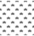 Taxi car pattern simple style vector image