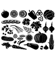 Set of icons of vegetables vector image vector image