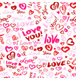 valentine day or wedding seamless pattern with vector image vector image