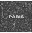 Paris line art design vector image