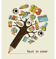 Back to School pencil tree vector image