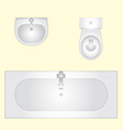 basin bathtub an toilet vector image