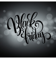 Black friday sale background Lights bokeh vector image