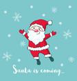 christmas greeting card with cute santa claus vector image