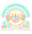 Greeting card diwali linear style vector image