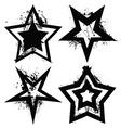 grunge star set vector image