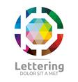 lettering b rainbow alphabet design vector image