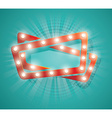 Old Cinema banner with light bulbs vector image