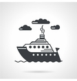 Sea ship black icon vector image