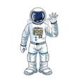 Astronaut space cartoon design vector image