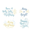 Lettering and calligraphy Christmas and New Year vector image