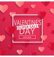 valentines day super sale background vector image