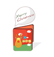 A christmas card is placed vector image