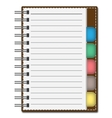 Blank Paper with Notebook vector image