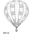 hot air balloon sketch up line eps 10 vector image vector image