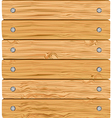 pattern of wooden boards with screws vector image