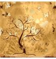 grunge background with tree vector image