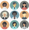 Icons Set of Persons Female Different Ethnic vector image