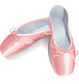 ballet shoes vector image vector image