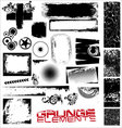 grunge elements vector image vector image