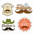Happy Fathers day colorful labels logo set vector image vector image