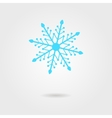 blue snowflake icon with shadow vector image