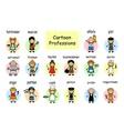 Cartoon set of professions vector image