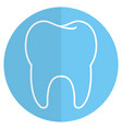 clean tooth isolated icon vector image