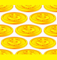 dollar coin pattern vector image