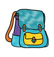 grated school backpack education object design vector image