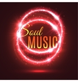 Light effects abstract background for music theme vector image