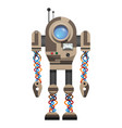 mechanical robot with round screen and antennas vector image