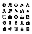 project management solid icons vector image