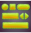 Set of green funny buttons vector image